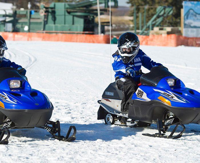 mini snowmobiling