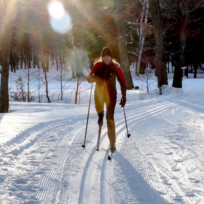 moonlight cross country skiing